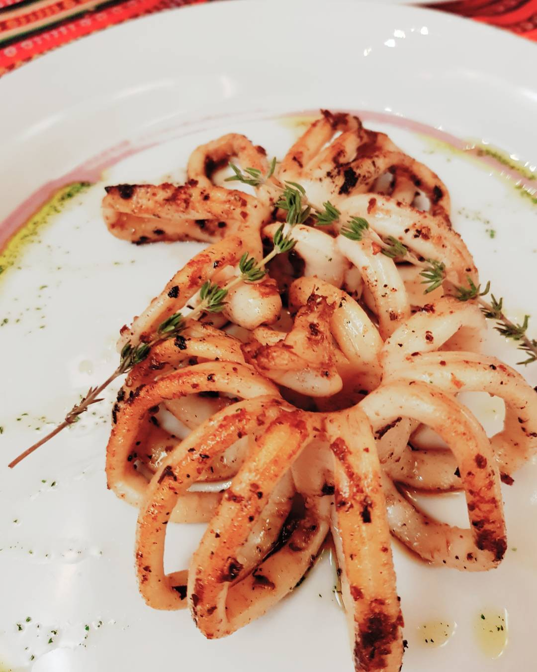 Grilled Calamari of Nazca 21 Restaurant in Casco Viejo Panama