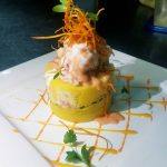 Shrimp and Avocado Causa Rellena of Nazca 21 Restaurant in Casco Viejo Panama