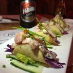 Smoked Salmon Taquitos at Aki Japanese Kitchen Casco Viejo Panama