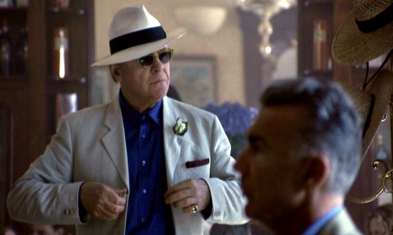 Anthony Hopkins using a Fedora style Panama Hat in Hannibal