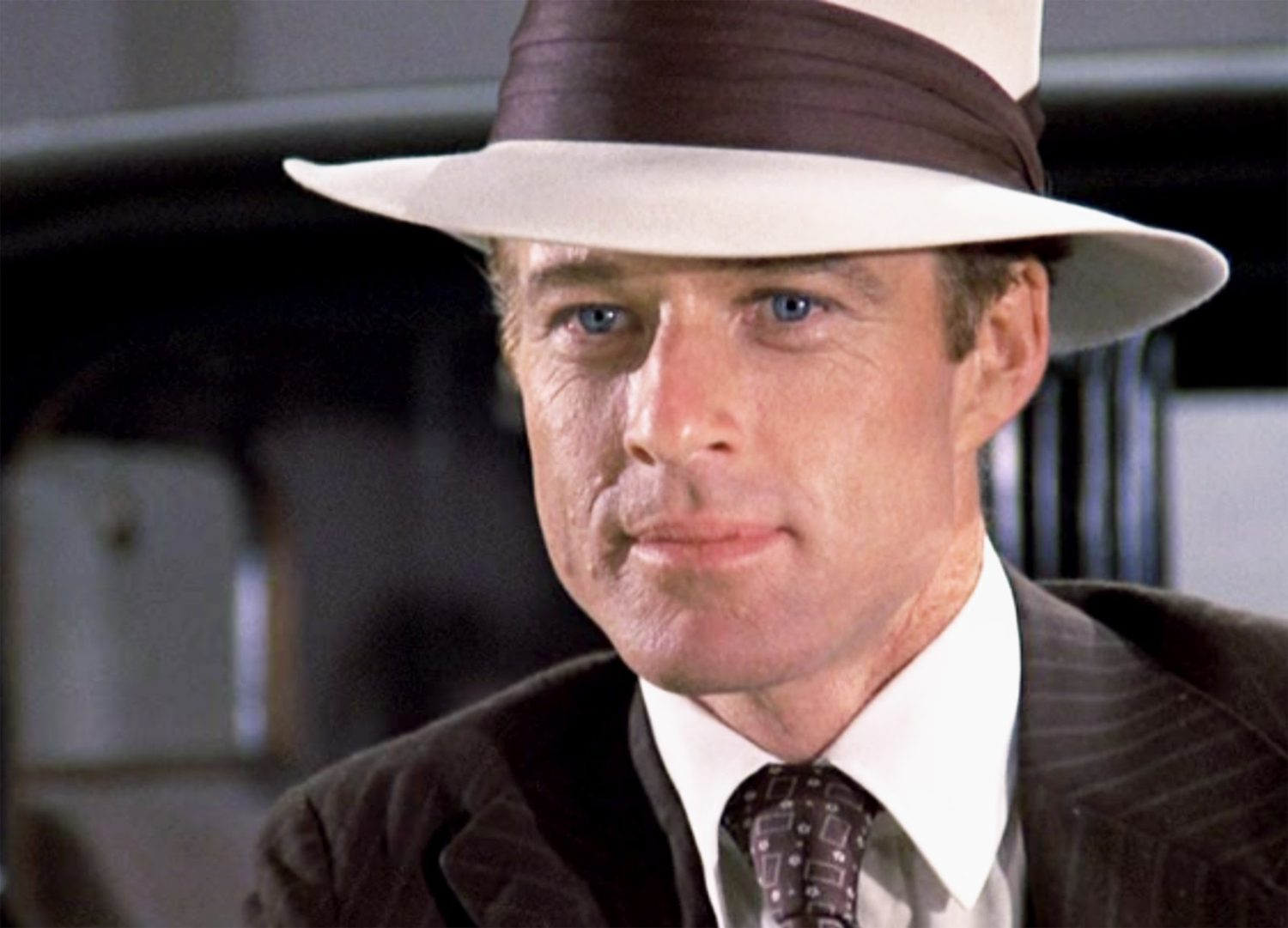 Robert Redford wears a Panama hat in the Great Gatsby in 1974